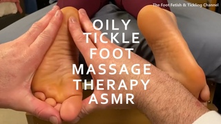 Oily Female  Foot Massage And Tickle Therapy / Reflexology ASMR