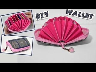 DIY  POUCH WALLET IDEA / Credit Card Holder Zipper Purse Tutorial