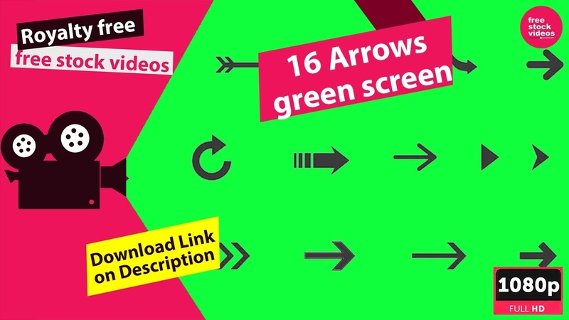 16 Arrows Pack 1 free green screen stock footage Alpha Channel free stock videos