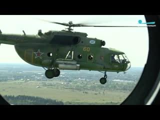 Кадры с военного вертолета: репетиция парада ВМФ