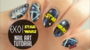 EXO x Star Wars Lightsaber Nail Art Tutorial