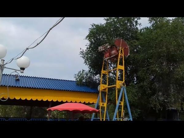 Головокружительный аттракцион Экстрим в Центральном парке культуры и отдыха города Орска