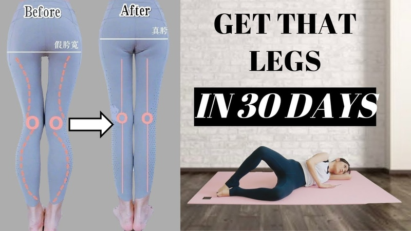 Longer More Straight Legs in 30 Days | 8 Best Exercises to fix false wide hip, 5 mins!【Eng Sub】