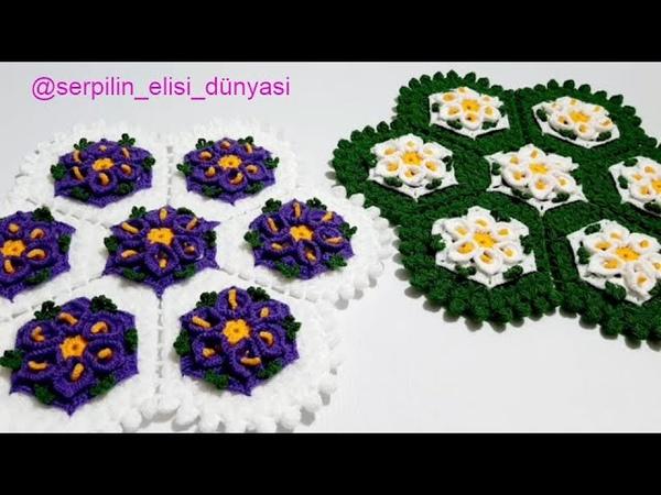 Serpil'in Elişi Dünyası Zambak Lif Modeli yenilifmodelleri kolaylifmodelleri çeyizliklif crochet