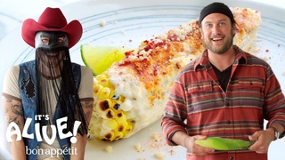 Brad and Orville Peck Make Elote (Mexican Street Corn)   It's Alive   Bon Appétit