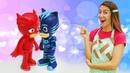 Galletas de colores con juguetes PJ Masks. Recetas sencillas. Cocina para niños