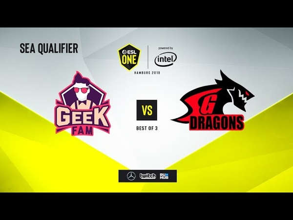 Geek Fam vs SG Dragons, ESL One Hamburg 2019 QL, bo3, game 1 [mortalles]