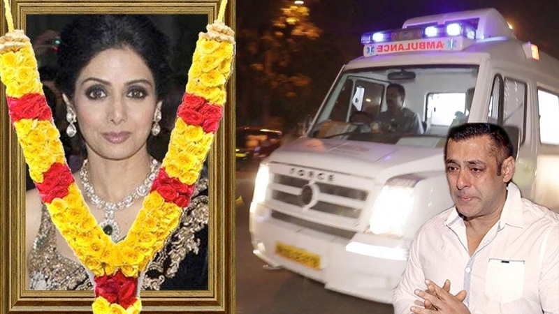 Sridevi s Last Journey From Airport To Her House Anil Kapoor Salman Khan