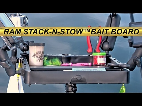 Fishing Gear RAM Stack N Stow™ Bait Board Boat Kayak