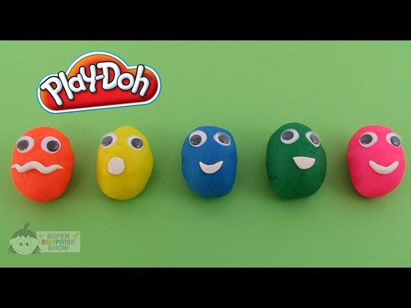 PLAY DOH Surprise Eggs Funny Faces with FROZEN, Hello Kitty, Minions Toys and more