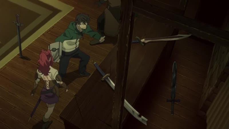 Отрывок из аниме Восхождение героя щита Ношение неразрешенного оружия s1e1
