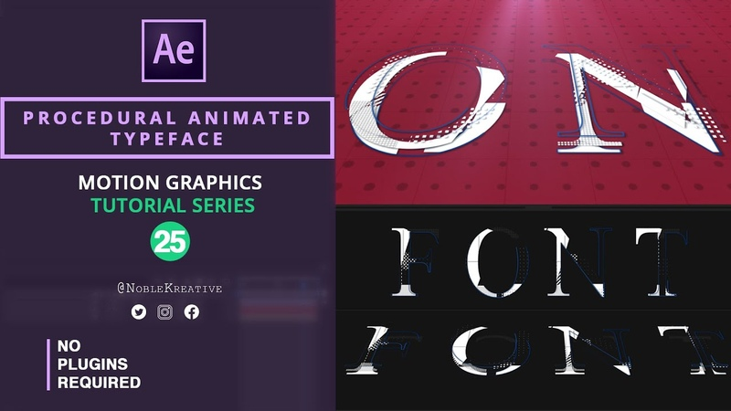 Procedural Animated Typeface in After Effects No Plugins