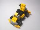 Мини гоночная машинка из лего Желтый карт