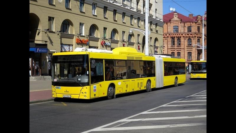 Автобус Минска МАЗ-215.069, гос.№ АС 3034-7, марш.1 (28.06.2019)