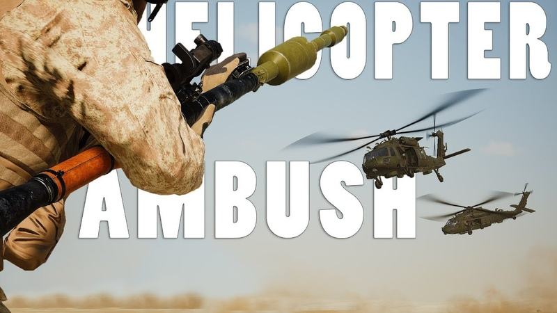 HELICOPTER CONVOY AMBUSH - Squad v16 Helicopter Gameplay