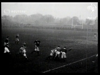 Scotland defeats Ireland in a rugby match (1923)