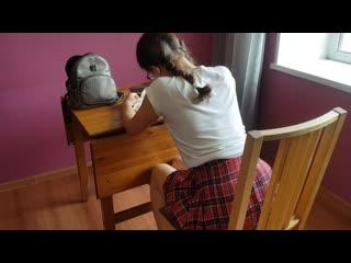 Домашнее задание старшеклассница выполнила на 5