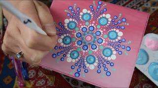How To Paint Dot Mandalas PASTEL Mother's Day Box Full Step by Step Tutorial