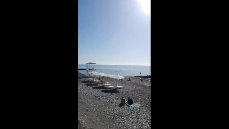 Пляж Чайка . Адлер.