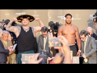 WOW! - ANDY RUIZ WEIGHS IN OVER 20 STONE AGAINST LEANER ANTHONY JOSHUA - OFFICIAL WEIGH-IN (SAUDI)