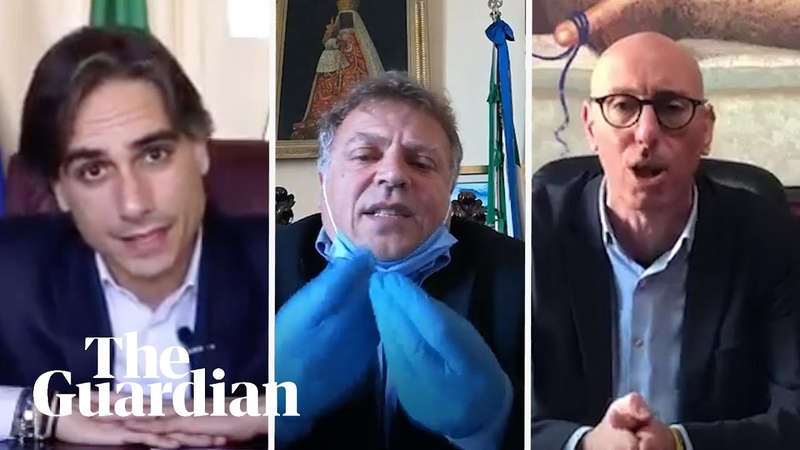 'Stay at home ' Italian mayors send emotional plea to residents video
