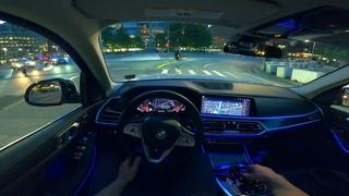 2020 BMW X7 POV Night Drive NYC Time Square Test Drive 4K 60FPS HD Video