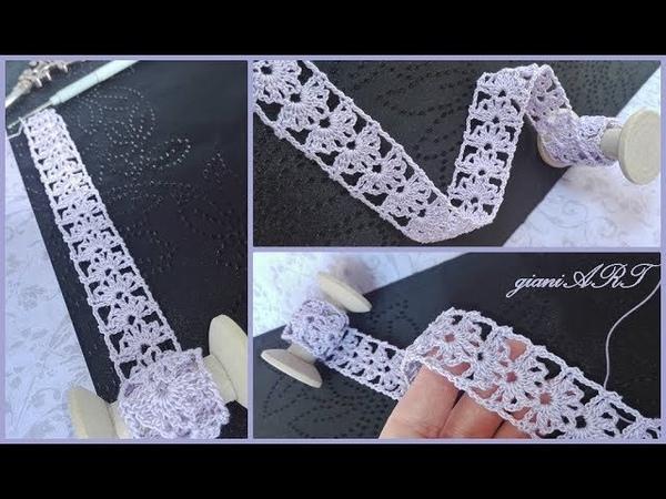 Easy to Crochet Lace Ribbon/Crochet Flower in the Box