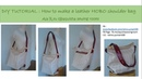 DIY Sewing bag TUTORIAL How to make a hobo shoulder and crossbody bag