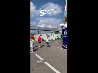 Себастьян и самокат, ГП Испании-2020.