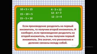 Математика 2 класс   2 тема   Прием деления, основанный   Вайсканова С