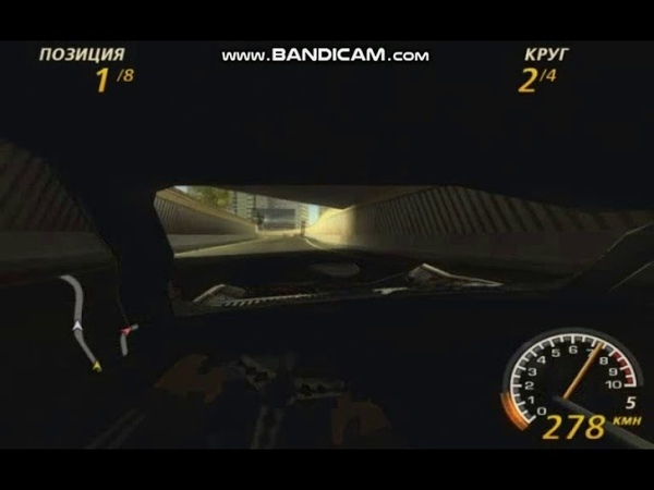 FlatOut 2 Downtown 1 Street Class Fastest Lap in 1m 17s 600ms 2st place