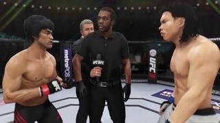Bruce Lee vs. Bolo Yeung (EA Sports UFC 3) - CPU vs. CPU - Crazy UFC 👊🤪