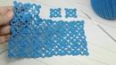 Вязание крючком КВАДРАТНЫЕ МОТИВЫ соединение БЕЗОТРЫВНЫМ СПОСОБОМ ВЯЗАНИЯ crochet square motif