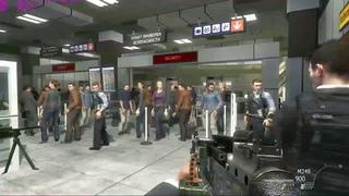 COD MW - Момент расстрела гражданских в аеропорту