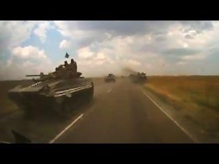 Мелитополь передвижение колонны военной техники украинских силовиков