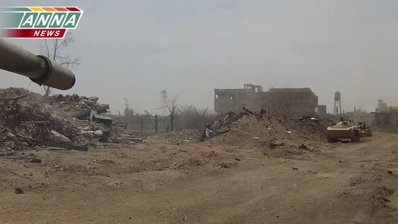«Сирия» «Огневое подавление» - позиций боевиков «Джобар» (Часть 2)