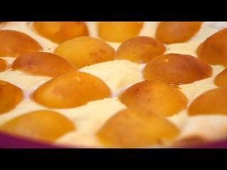 Нежная ЗАПЕКАНКА С АБРИКОСАМИ – смешиваю в блендере 4 ингредиента и украшаю абрикосами!