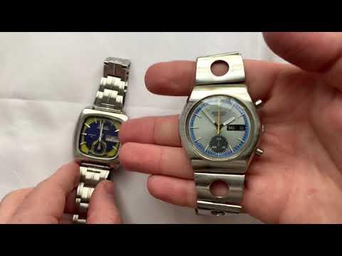 Видеообзор на редкие винтажные японские механические хронографы Seiko с календарем и автопозаводом