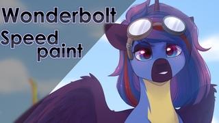Wonderbolt pony - Speed paint