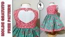 Vestido Coração 1 a 6 anos Molde Gratuito Dona Fada