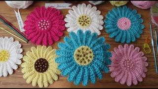 Crochet an Easy Daisy Flower with Beads