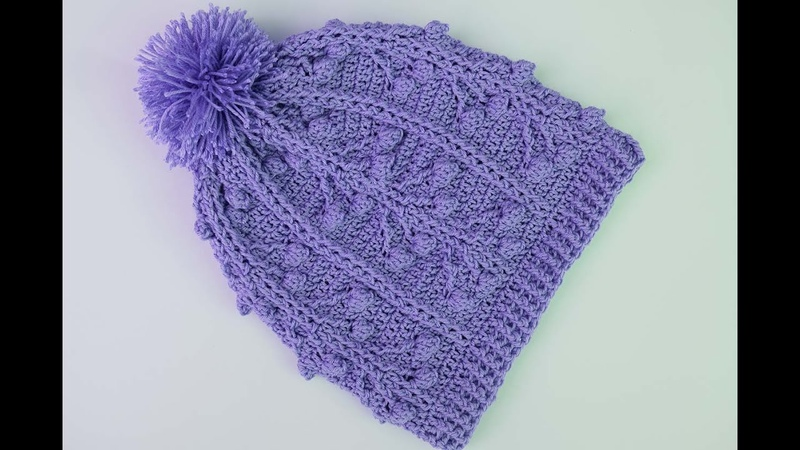 Crochet Hat with raised stitch to set with jersey