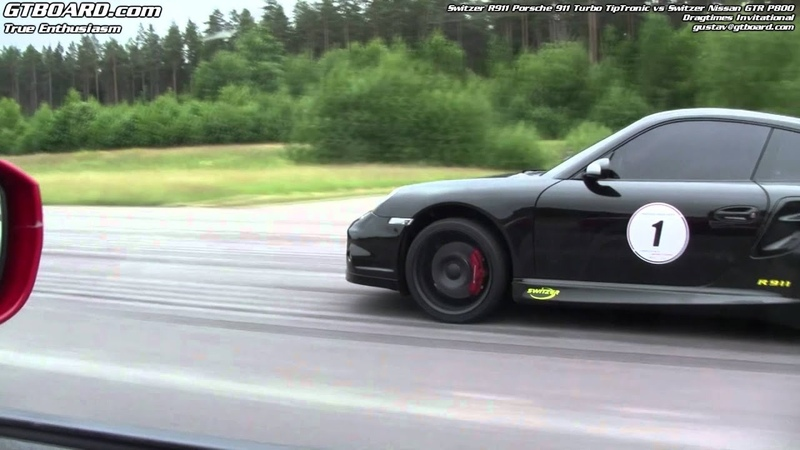 Switzer Nissan GTR P800 vs Switzer R911 Porsche 911 Turbo TipTronic
