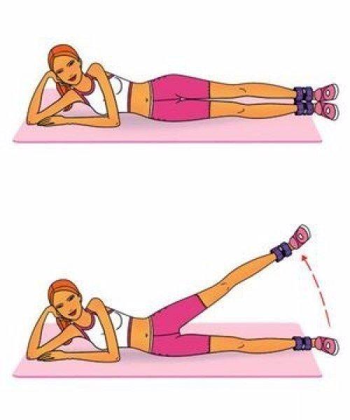 Эффективный комплекс упражнений для ног, ягодиц и пресса! Делать 15 повторений по 3-4 раза.