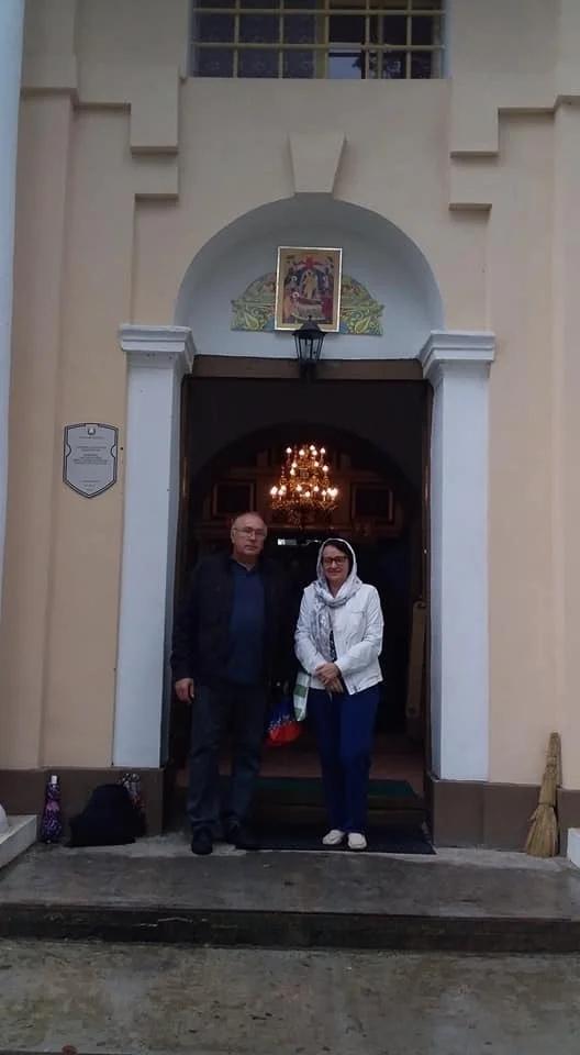 С брестским краеведом Евгением Квачуком в Успенской церкви в Перковичах