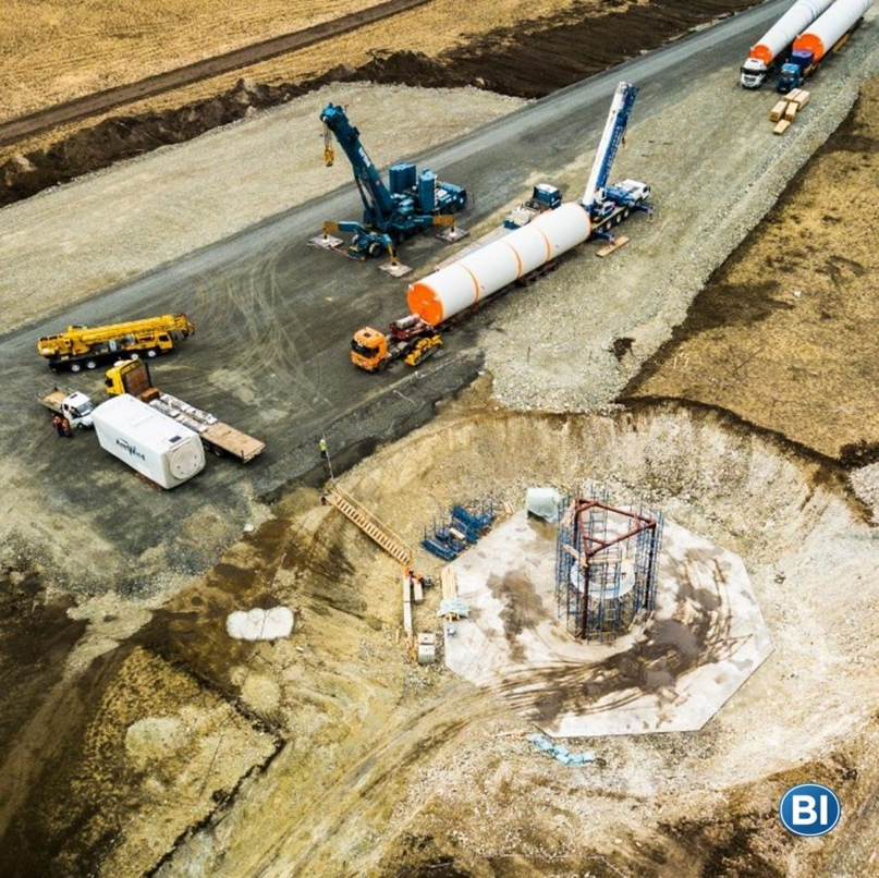 АККЕРМАНН ЦЕМЕНТ участвует в строительстве крупнейшего ветряного парка