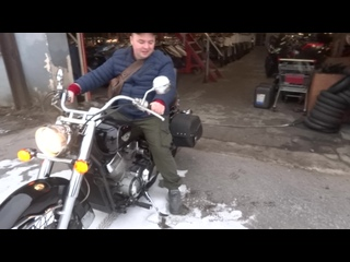 Покупка мотоцикла в салоне Акимото. Ленинград.