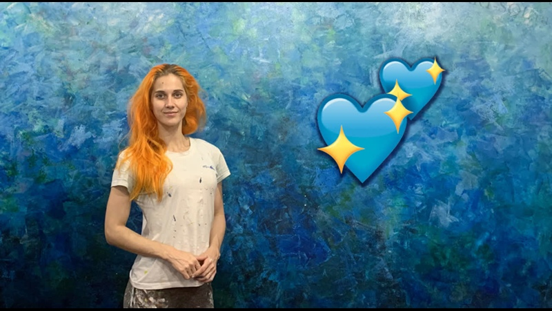 ART SOL Оформление гостиной текстурав оттенках синего