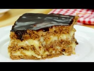 Угощайтесь! Вкусный и быстрый Банановый торт с печеньем - всего за 15 минут!!