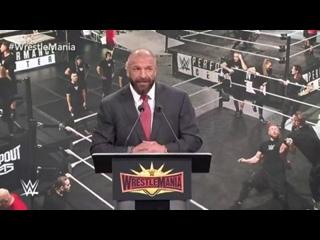 [#My1] Пресс-конференция, посвящённая шоу WrestleMania 35. Официальный анонс и речи представителей компании и города.